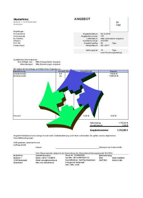 Kostenlose Angebotsvorlagen Für Excel Und Open Office