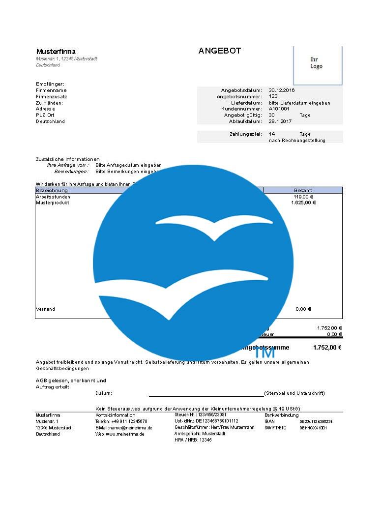 247concepts Kostenlose Angebotsvorlagen Open Office 247 Concepts