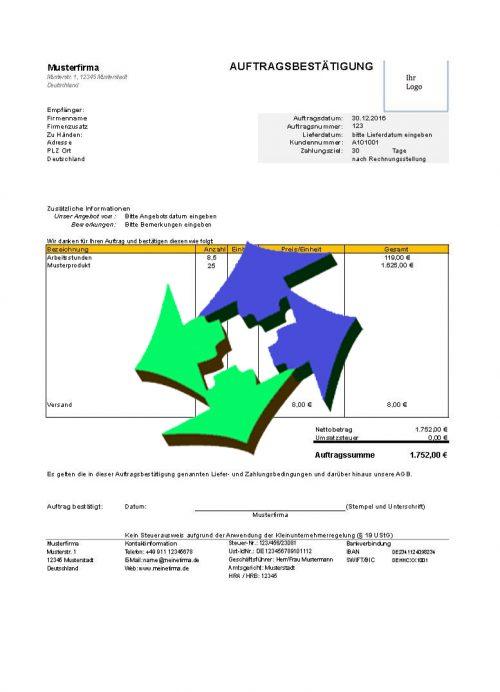 24/7 Concepts kostenlose Auftragsbestätigungsvorlagen