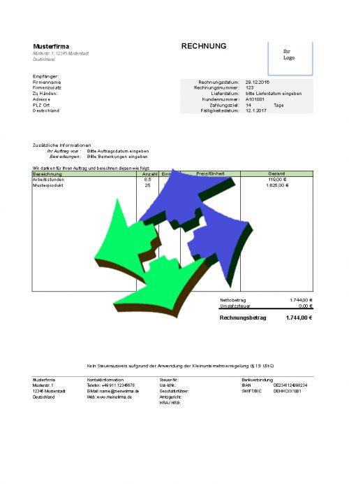 Kostenlose Rechnungsvorlagen Für Excel Und Open Office