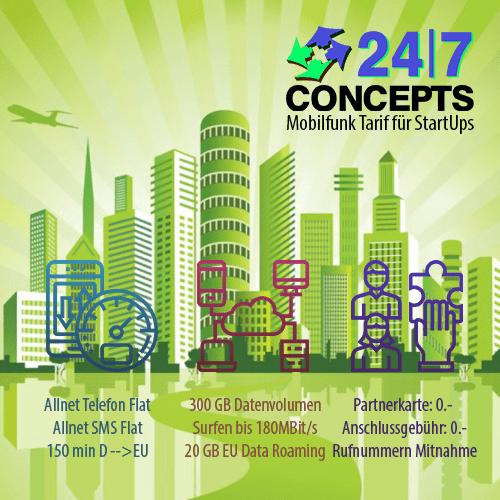 24/7 Concepts | Mobilfunkkarte für StartUps