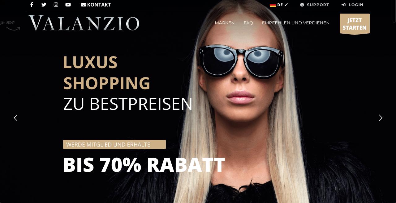 Valanzio.de -Luxusschopping zu Bestpreisen