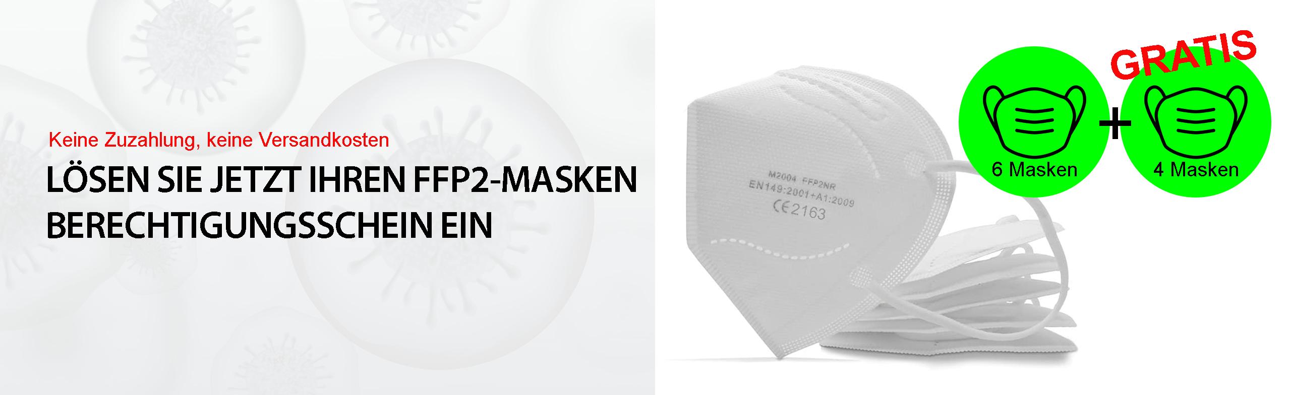 ffp2-Maske Berechtigungsschein einlösen